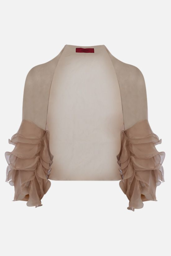 VALENTINO: silk chiffon shrug Color Pink_1