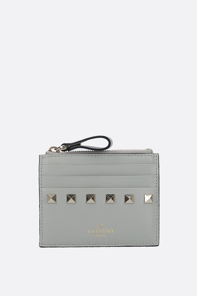 VALENTINO GARAVANI: Rockstud smooth leather card case_1