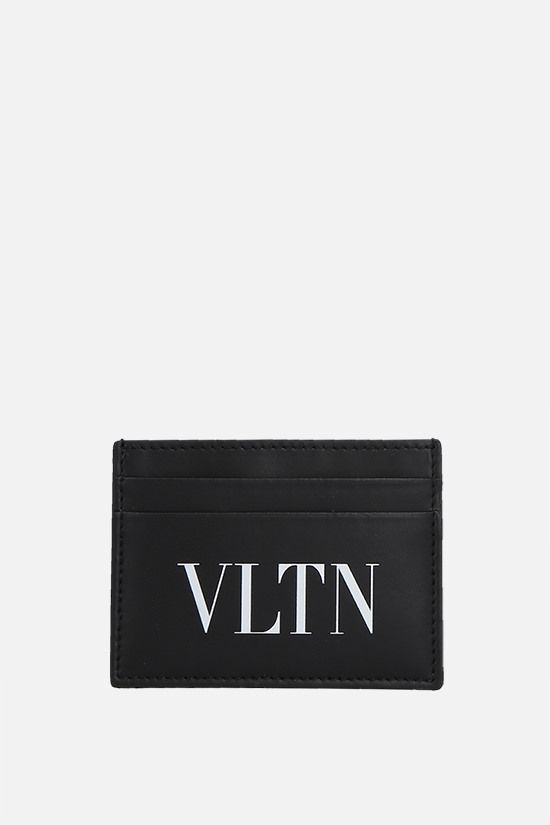 VALENTINO GARAVANI: VLTN smooth leather card case Color Black_1