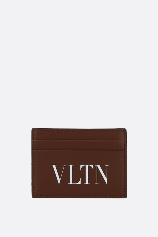 VALENTINO GARAVANI: VLTN smooth leather card case Color Brown_1