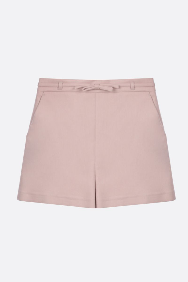 RED VALENTINO: bow-detailed stretch cady shorts Color Pink_1