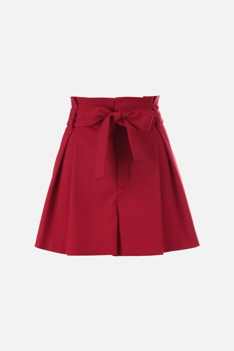 RED VALENTINO: cady darted shorts Color Red_1