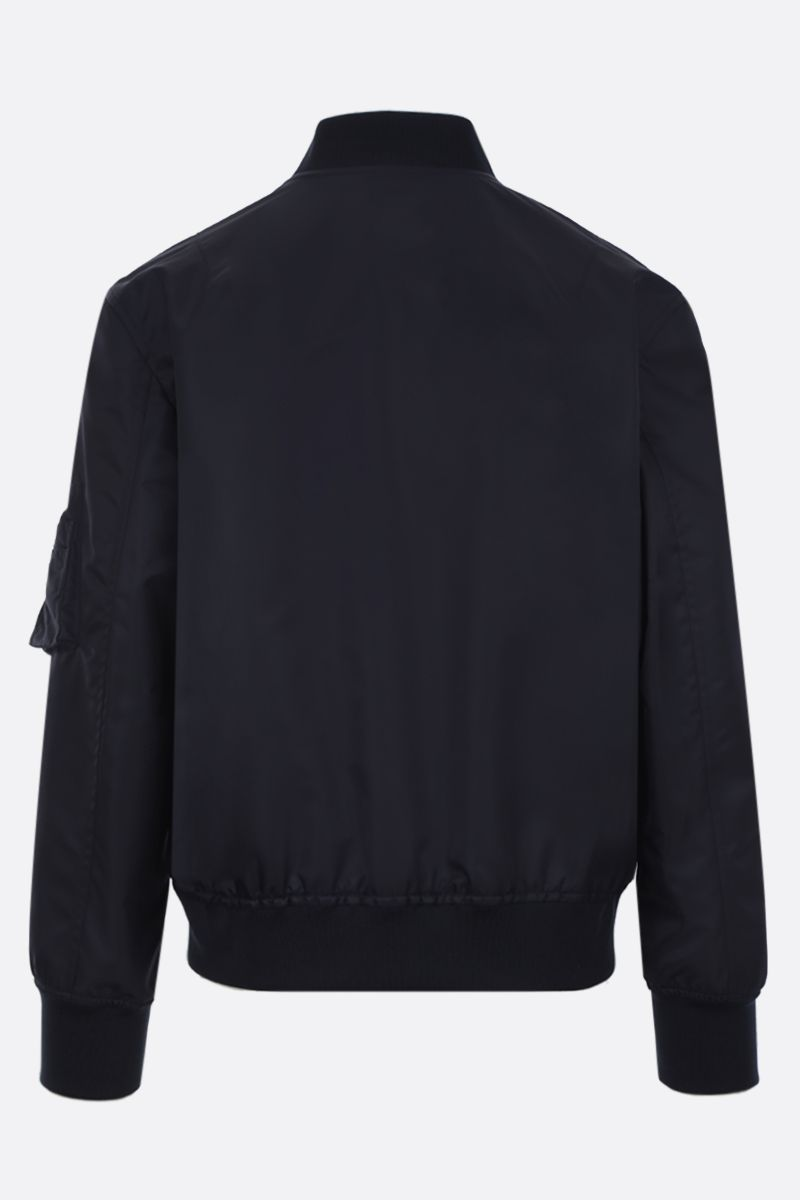 VALENTINO: Dragons Garden nylon bomber jacket Color Blue_2