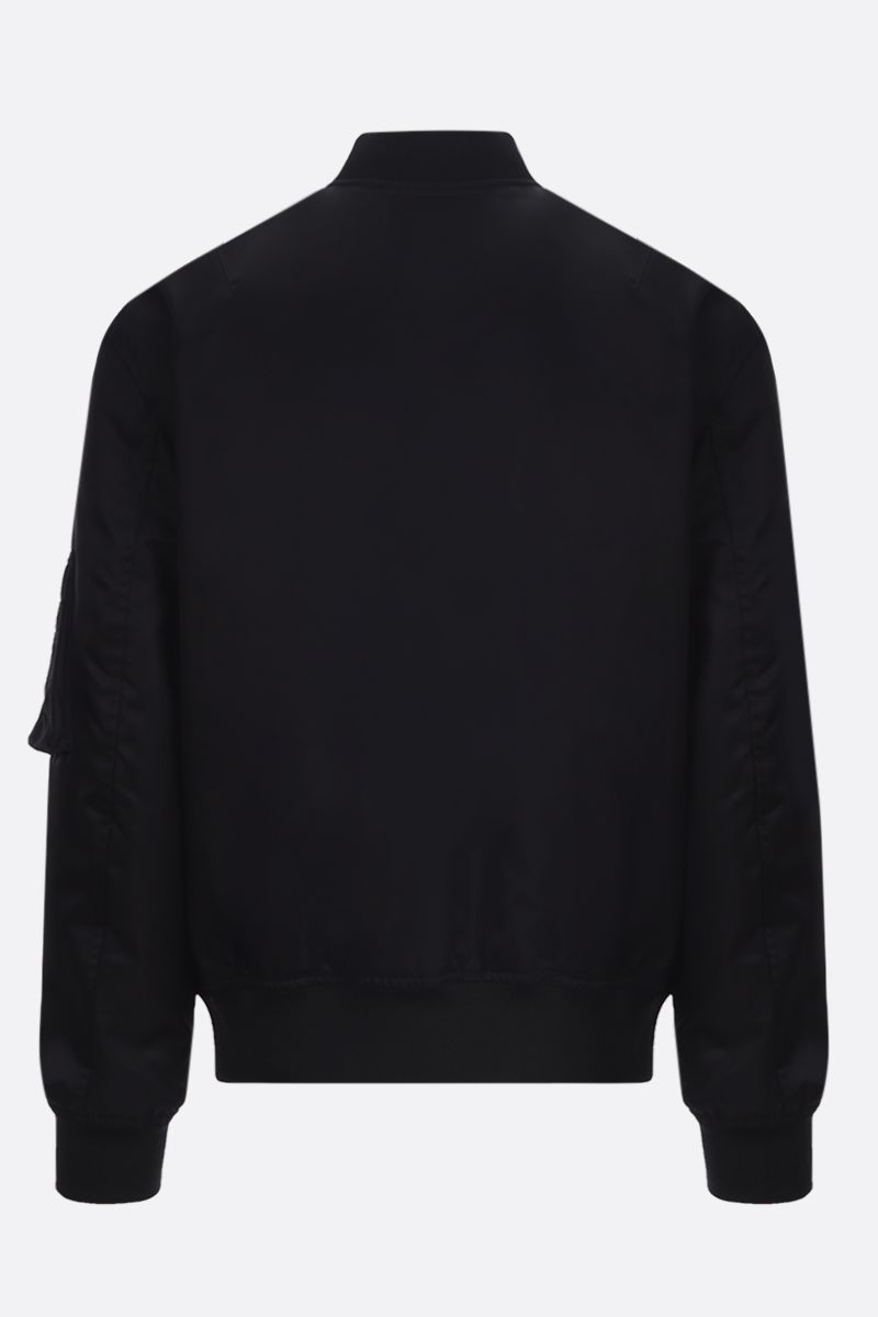 VALENTINO: VLTN TAG nylon padded bomber jacket Color Black_2