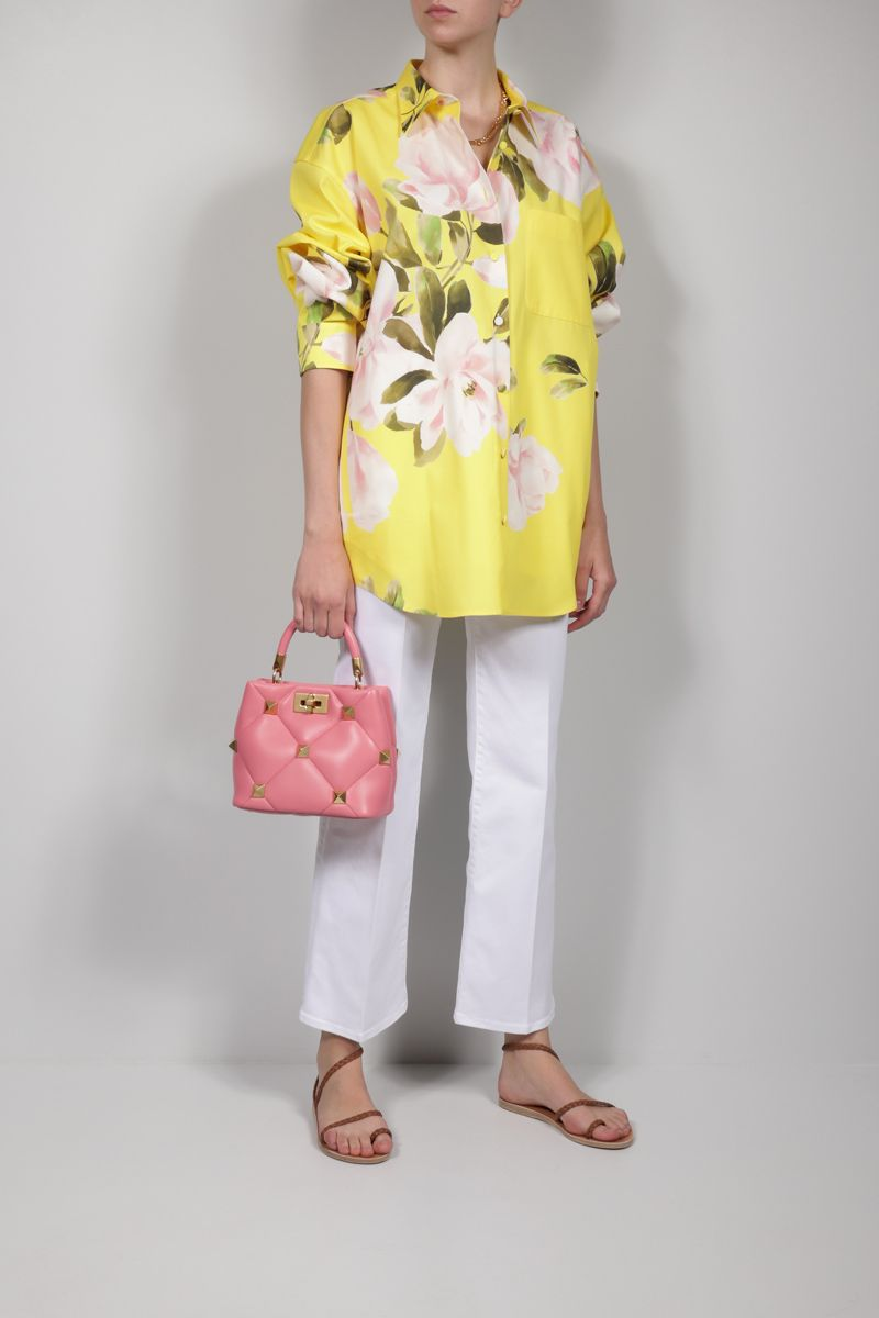 VALENTINO: Peonia Reedition printed oversize cotton silk blend overshirt Color Multicolor_2