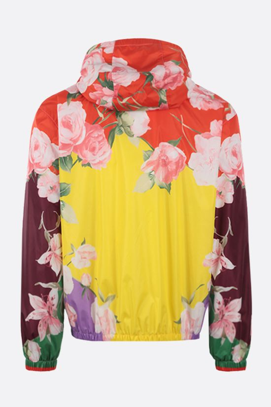 VALENTINO: Flying Flowers print nylon windbreaker Color Multicolor_2