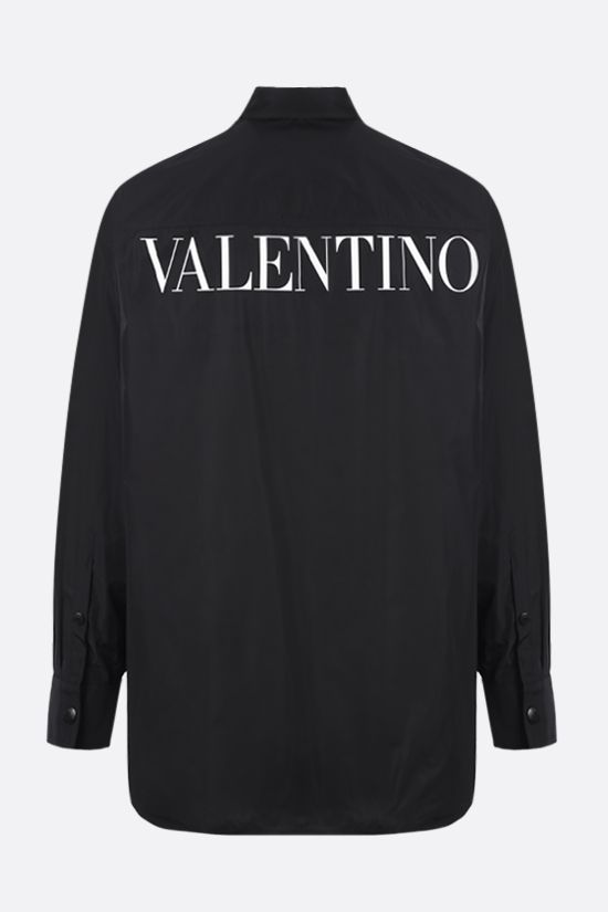 VALENTINO: lace-detailed nylon overshirt Color Black_2