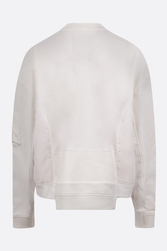 VALENTINO: oversize VLTN-detailed cotton and nylon sweatshirt Color White_2