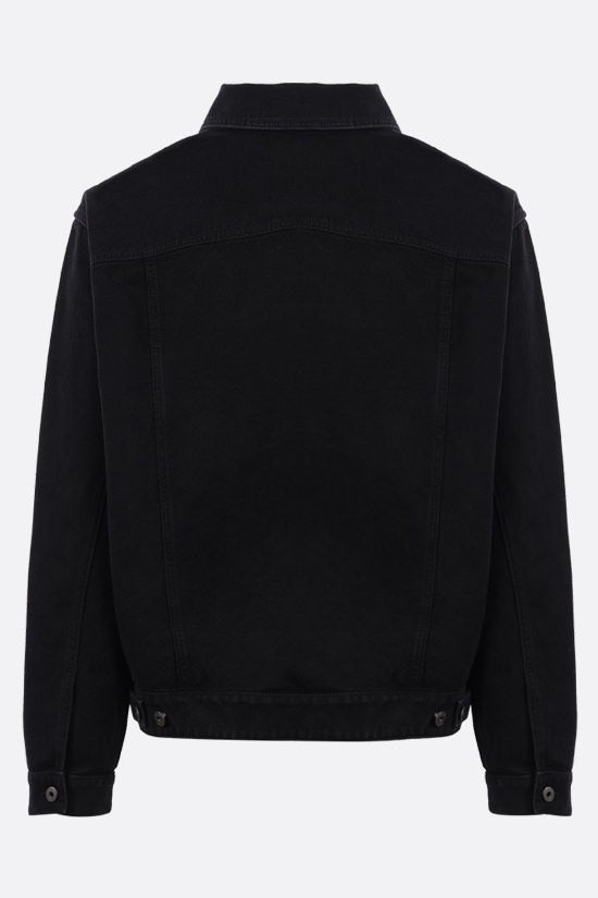 VALENTINO: VLTN TAG denim jacket Color Black_2