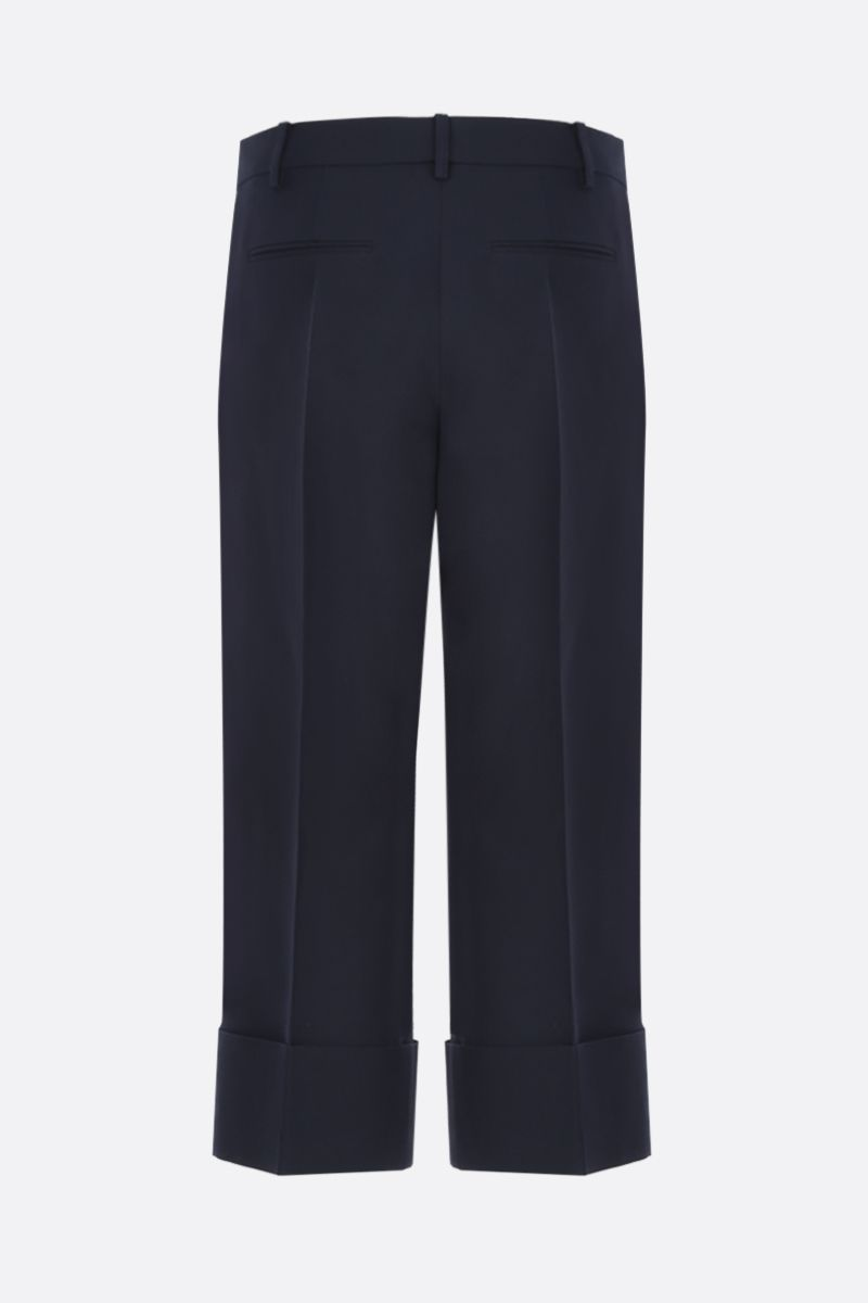 VALENTINO: Crepe Couture cropped pants Color Blue_3