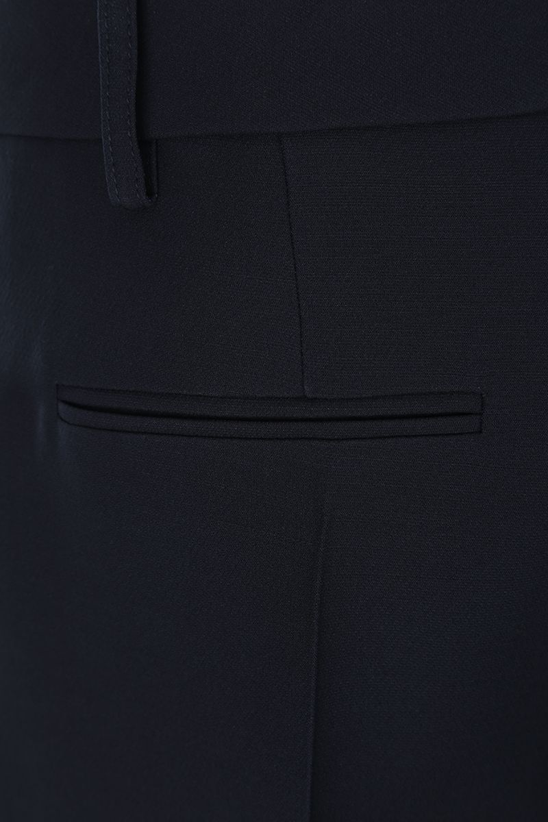 VALENTINO: Crepe Couture cropped pants Color Blue_4