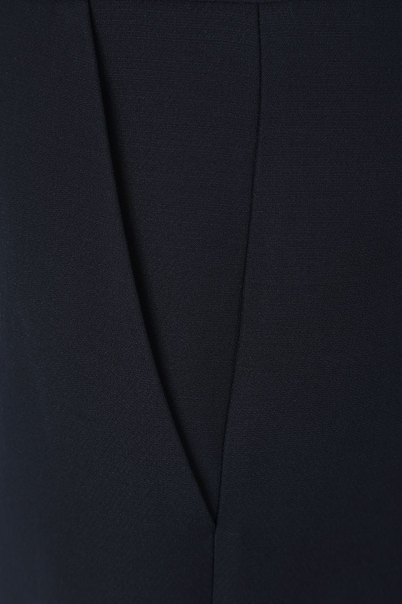VALENTINO: Crepe Couture cropped pants Color Blue_5