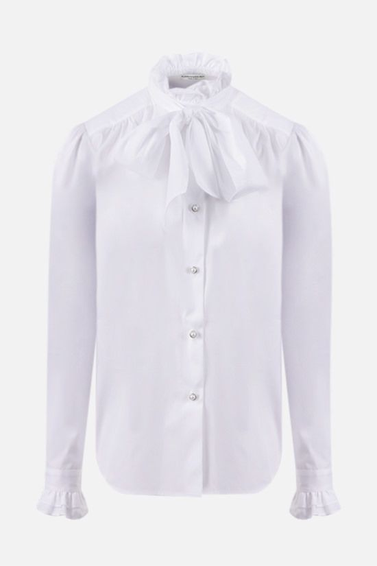 ALESSANDRA RICH: bow-detailed cotton shirt Color White_1