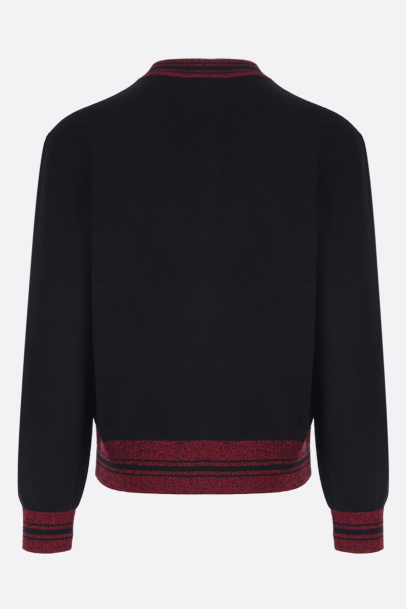 ALEXANDER McQUEEN: AMQ intarsia cotton bomber jacket Color Multicolor_2
