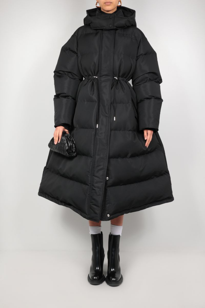 ALEXANDER McQUEEN: polyfaille long padded jacket Color Black_2