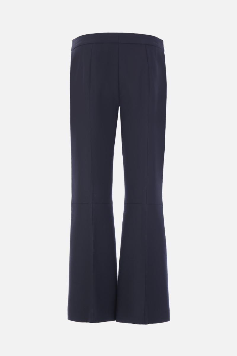 ALEXANDER McQUEEN: lightweight wool cropped pants Color Black_2