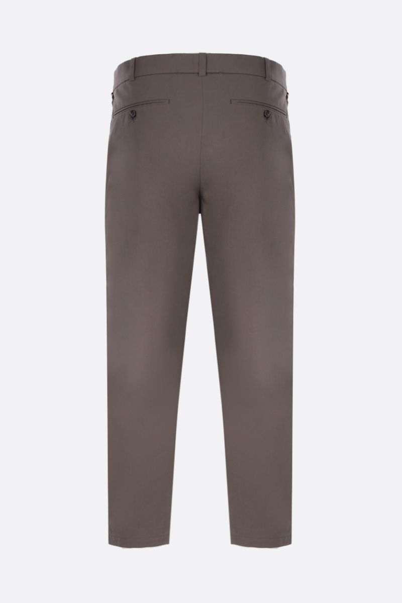 ALEXANDER McQUEEN: cotton cropped pants with contrasting bands Color Brown_3