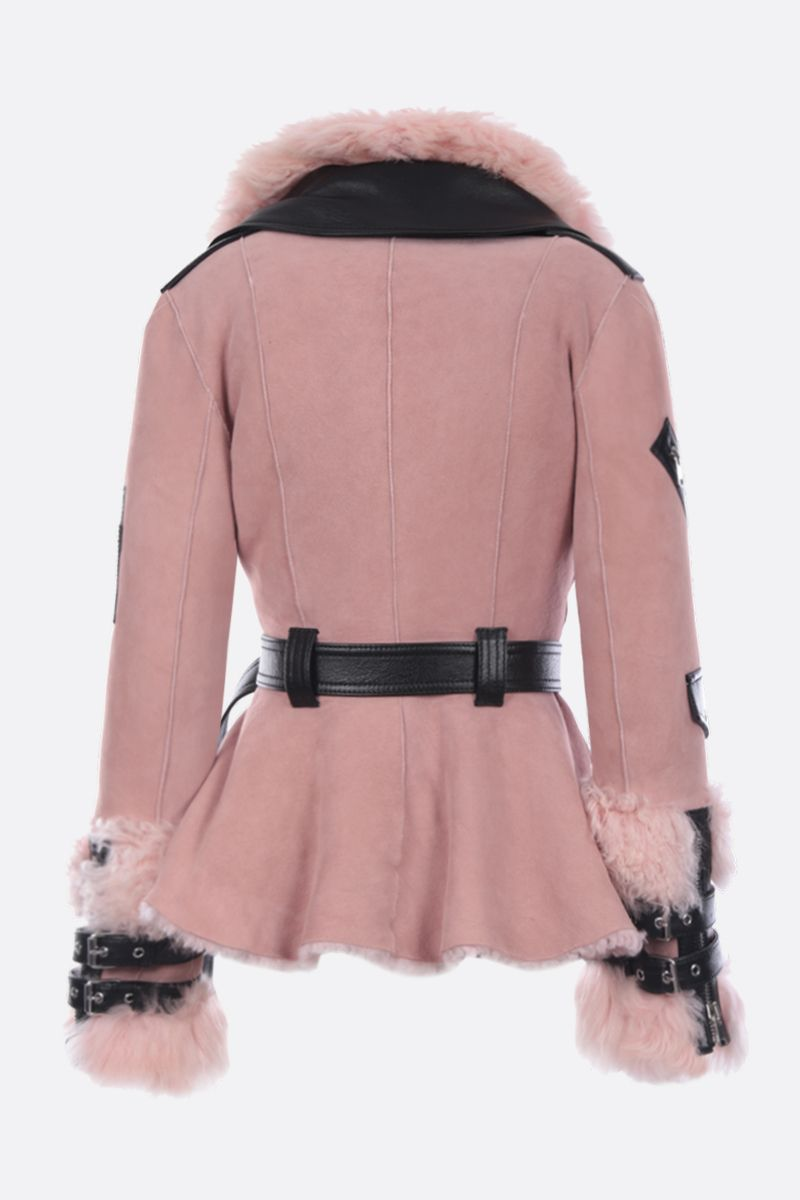 ALEXANDER McQUEEN: biker jacket in shearling and leather_2