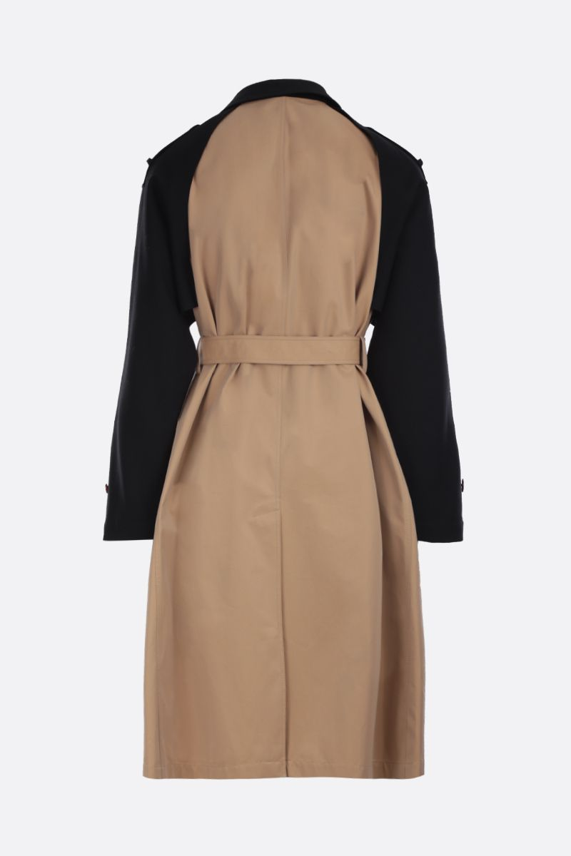 ALEXANDER McQUEEN: gabardine single-breasted trench coat Color Neutral_2