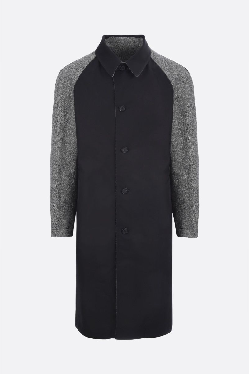 ALEXANDER McQUEEN: wool and cotton reversible overcoat_2