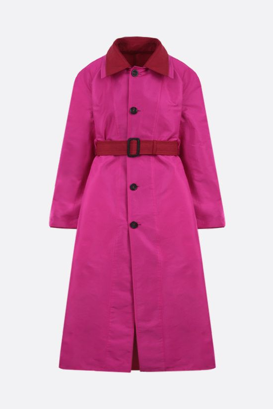 ALEXANDER McQUEEN: taffetà reversible overcoat Color Red_2