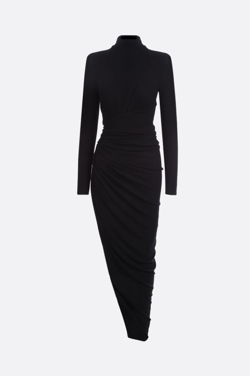 ALEXANDRE VAUTHIER: stretch viscose long dress Color Black_1