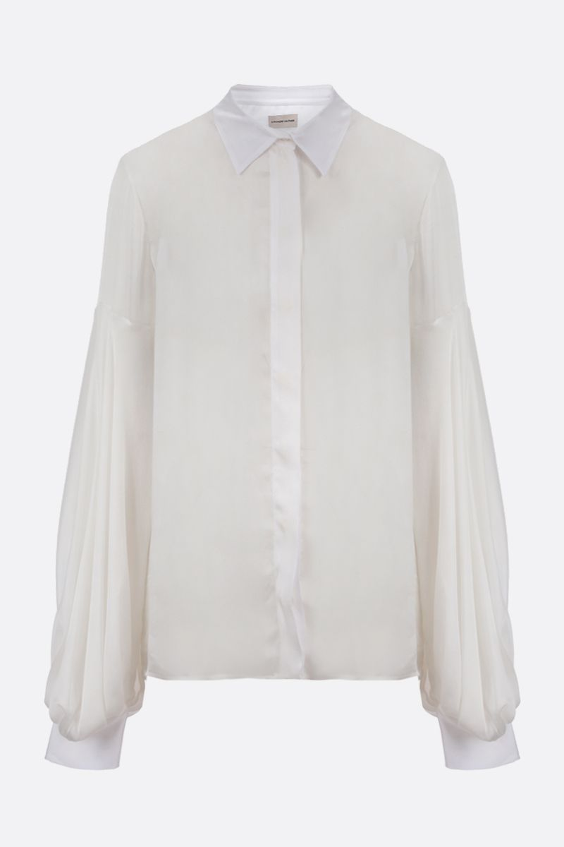 ALEXANDRE VAUTHIER: silk shirt Color White_1