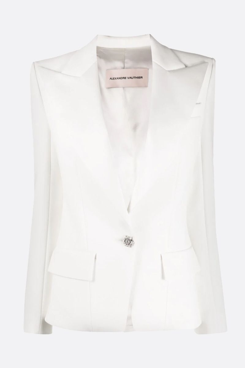 ALEXANDRE VAUTHIER: crepe single-breasted jacket Color White_1