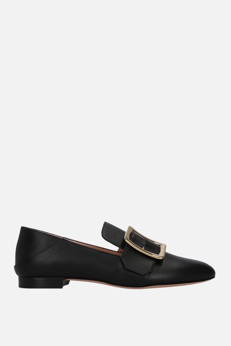BALLY: Janelle slippers in smooth leather Color Black_1