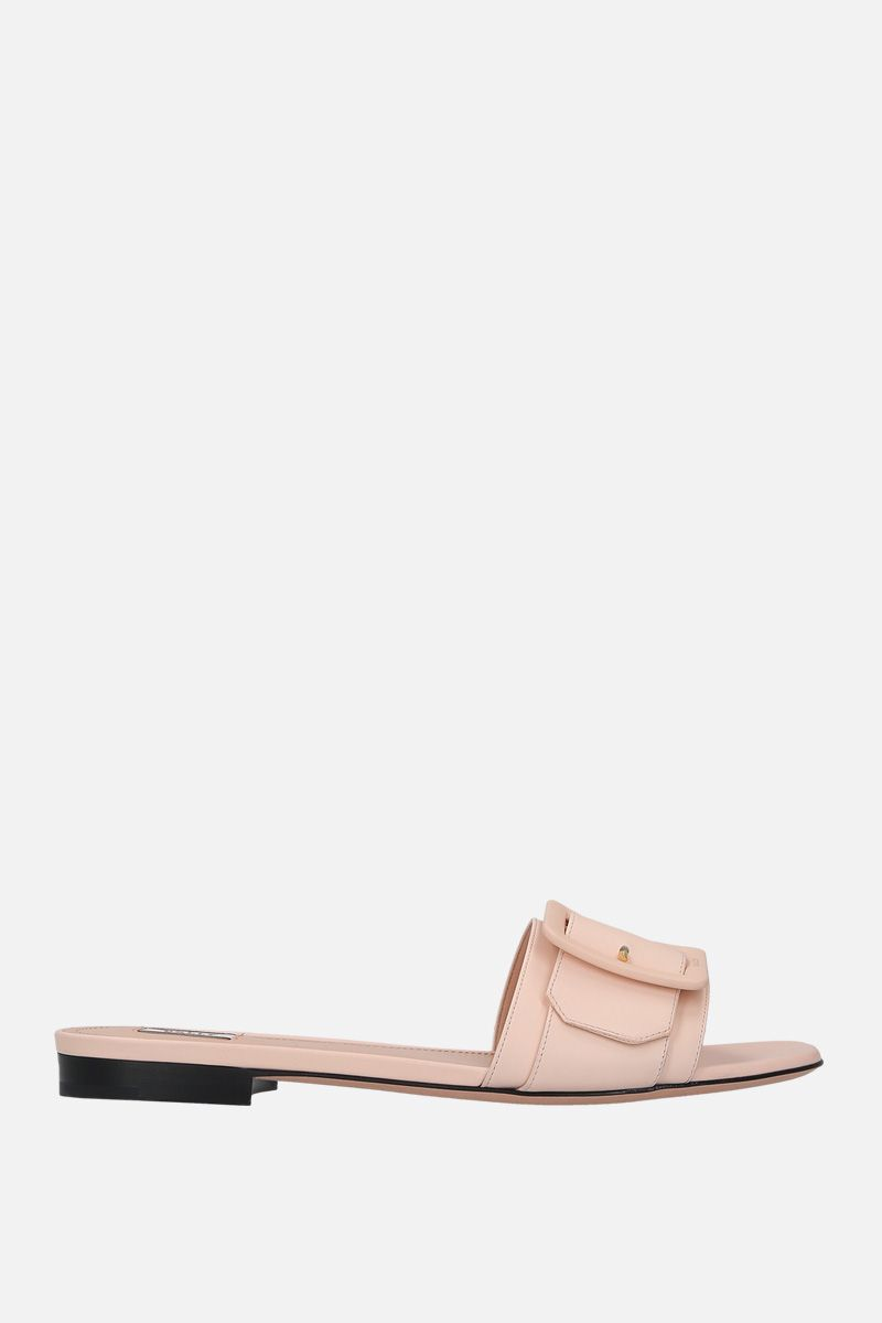 BALLY: Janna slide sandals in smooth leather_1