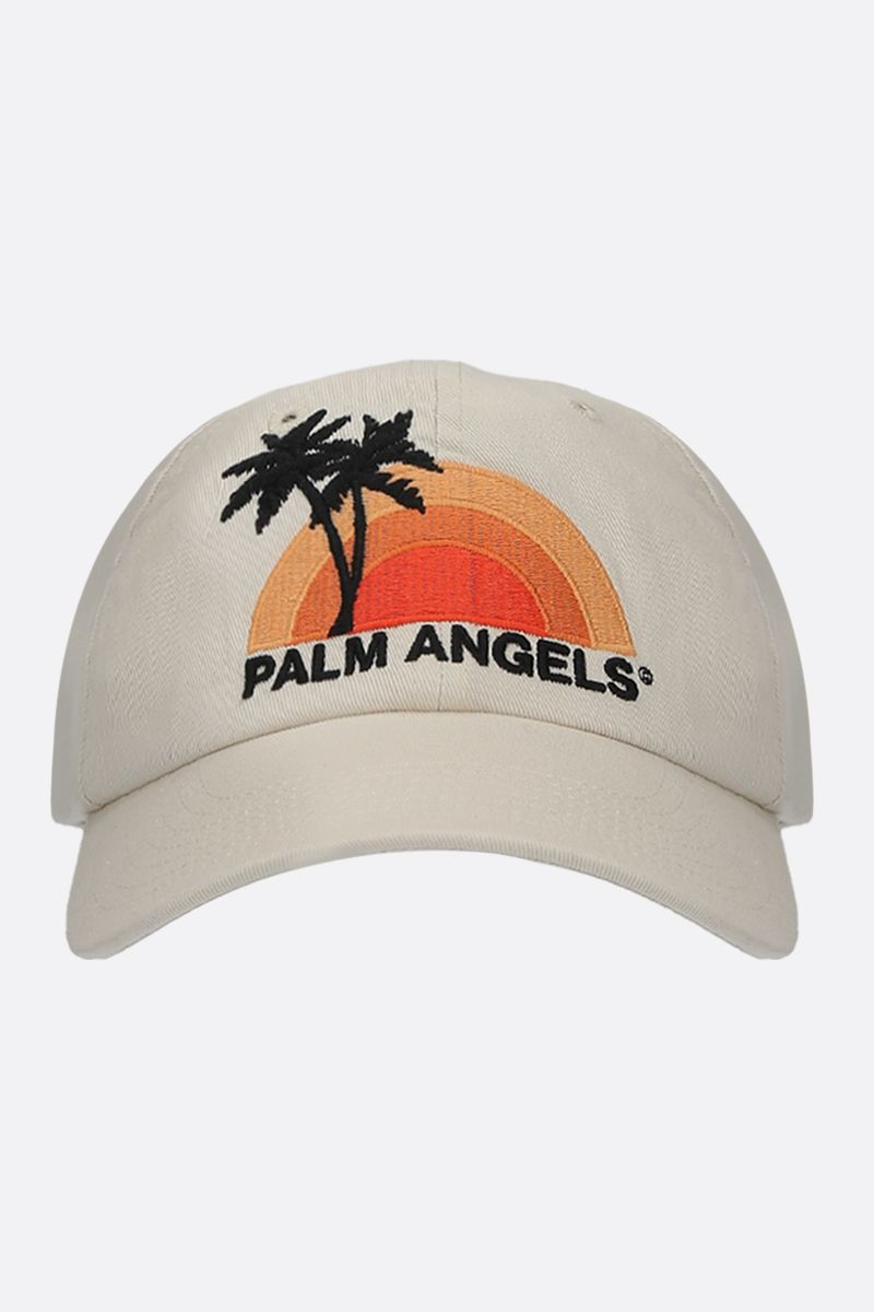 PALM ANGELS: cappellino baseball Sunset in canvas Colore Multicolore_1
