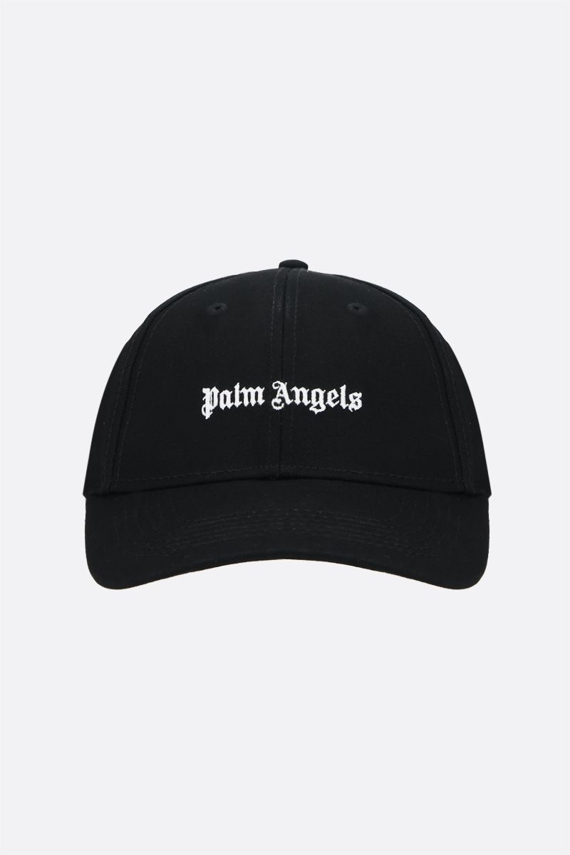 PALM ANGELS: Palm Angels embroidered baseball cap Color Black_1