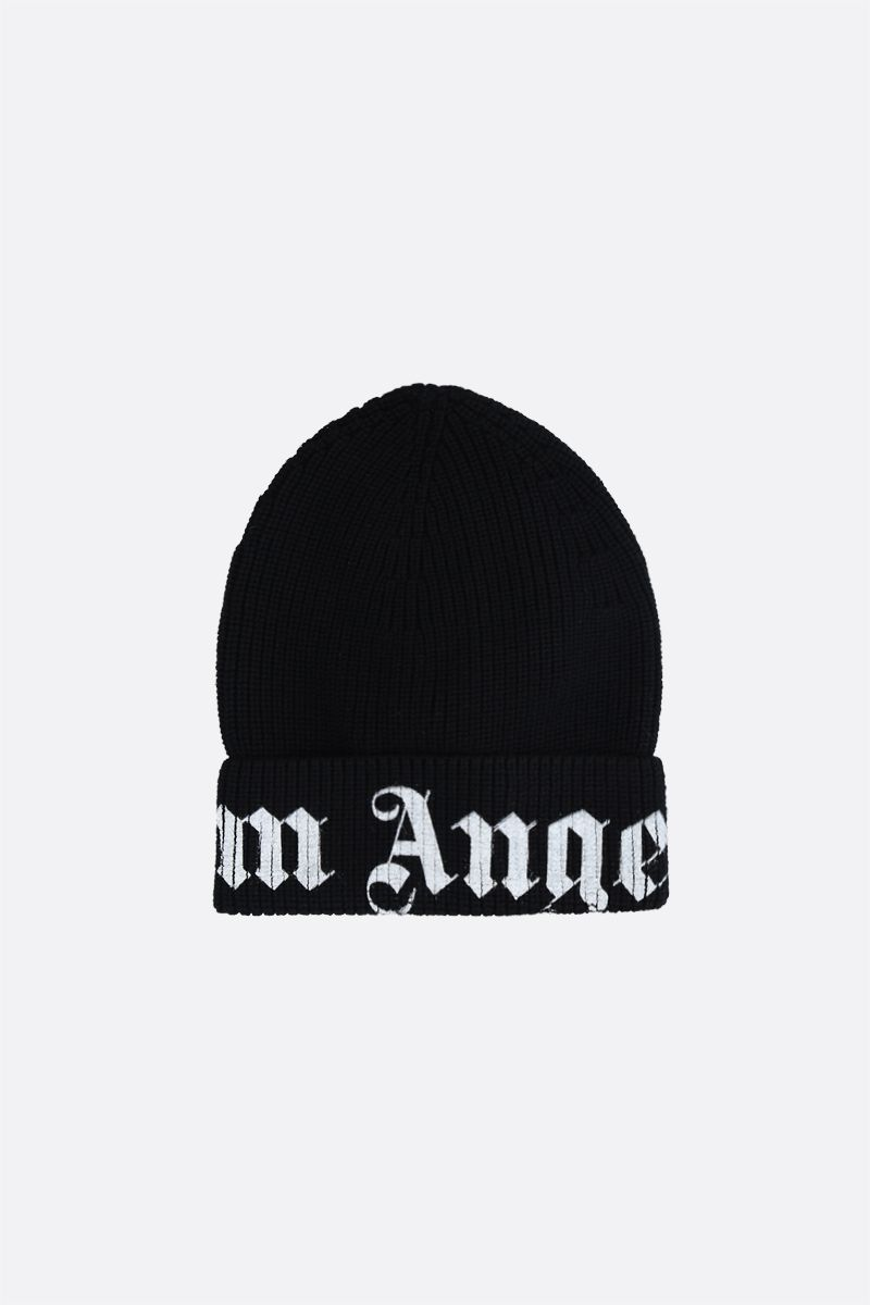 PALM ANGELS: Palm Angels wool beanie Color Black_1