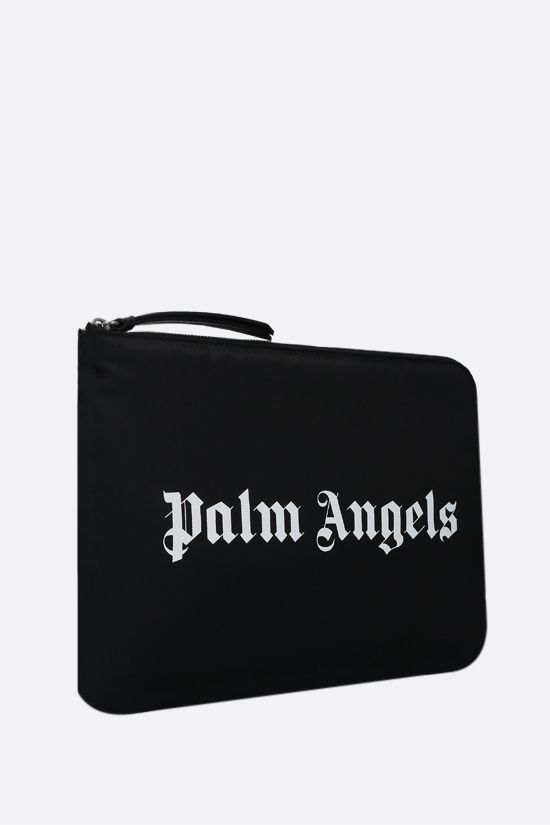 PALM ANGELS: Essential nylon clutch Color Black_2