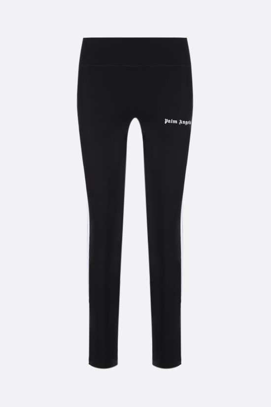 PALM ANGELS: contrasting bands technical fabric leggings Color Black_1