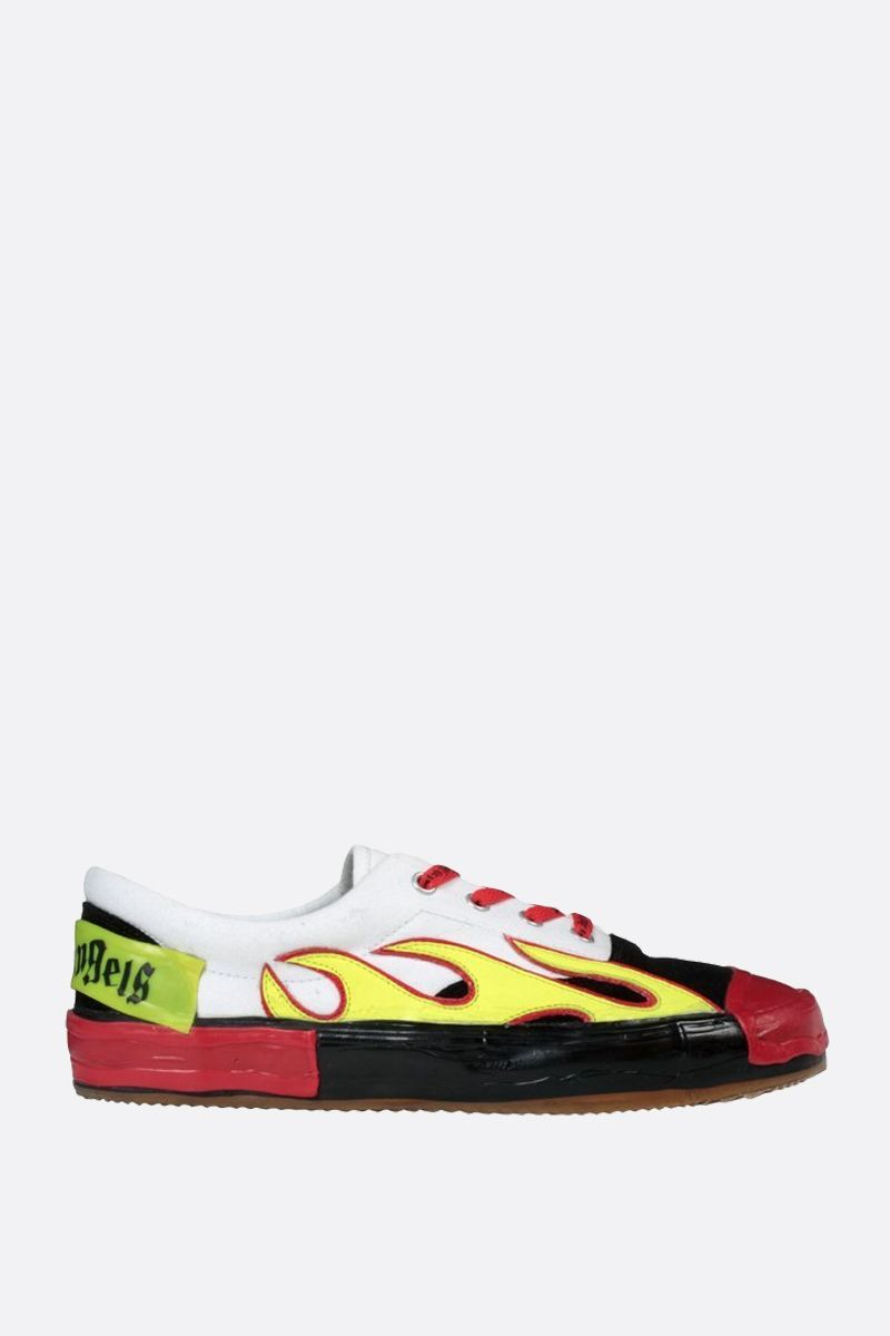 PALM ANGELS: sneaker Flame in canvas e suede Colore Multicolore_1