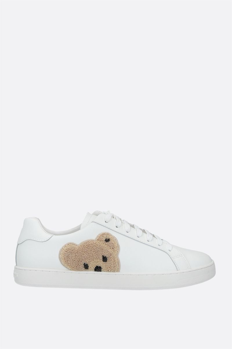PALM ANGELS: New Teddy Bear smooth leather sneakers Color White_1