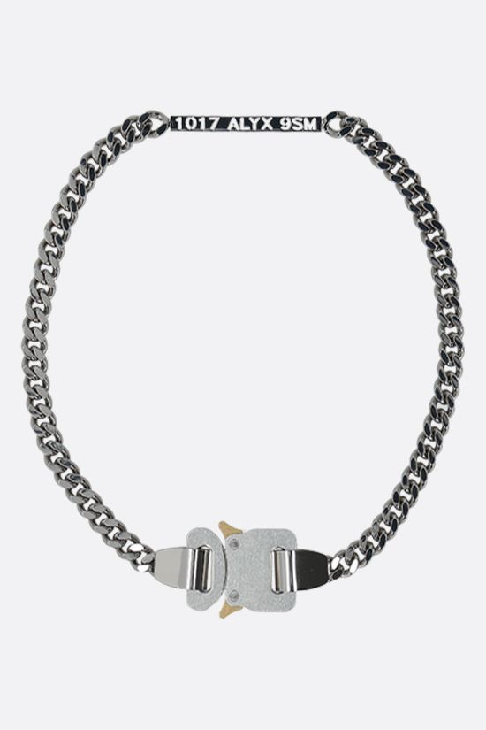 1017 ALYX 9SM: Rollercoaster buckled chain necklace Color Silver_1