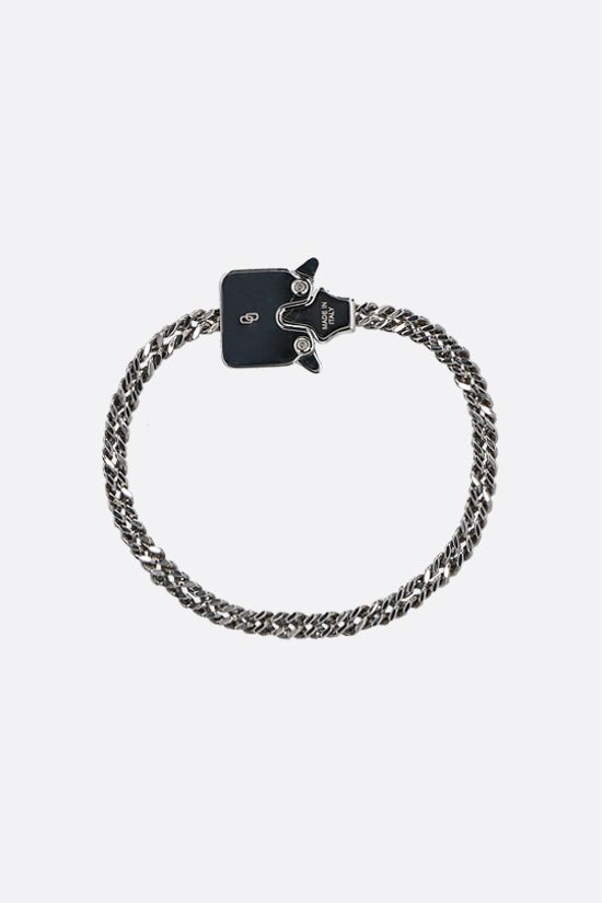 1017 ALYX 9SM: Mini Cubix metal chain bracelet Color Silver_1