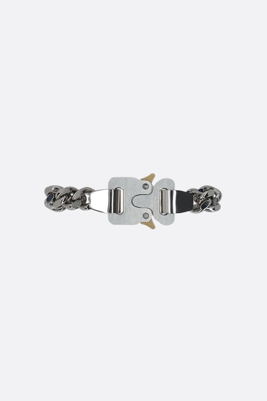 1017 ALYX 9SM: metal and nylon chain bracelet Color Silver_1
