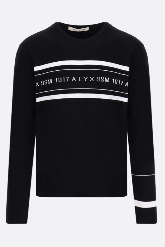 1017 ALYX 9SM: Logo Multi Stripe stretch viscose pullover Color Black_1