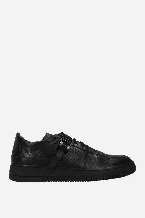 1017 ALYX 9SM: Rollercoaster buckle-detailed leather sneakers Color Black_1