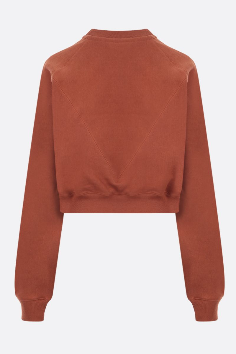 REEBOK X VICTORIA BECKHAM: RBK Victoria Beckham cotton cropped sweatshirt Color Brown_2