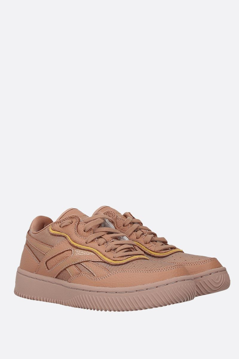 REEBOK X VICTORIA BECKHAM: Dual Court II VB leather and tech fabric sneakers Color Neutral_2