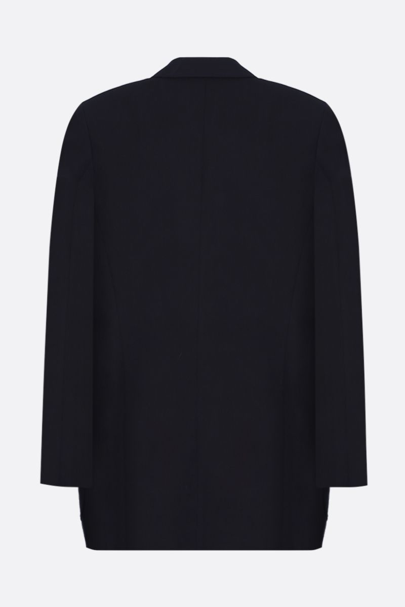 VICTORIA BECKHAM: wool blend double-breasted jacket Color Blue_2