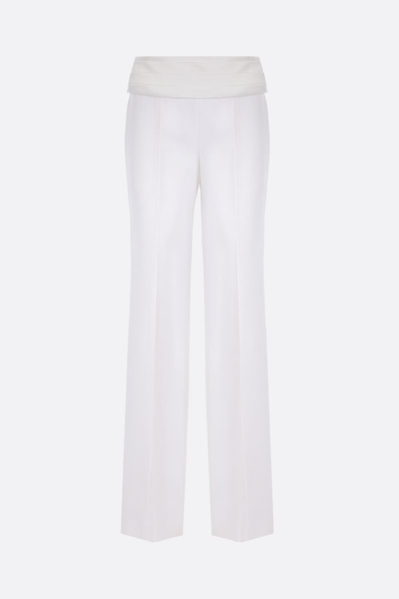 VICTORIA BECKHAM: wool tuxedo pants Color White_1