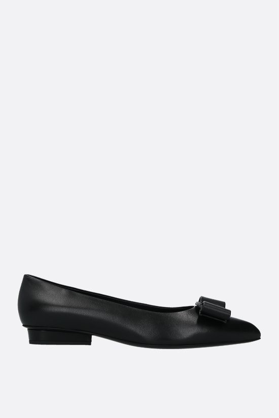 SALVATORE FERRAGAMO: Viva nappa ballerinas Color Black_1