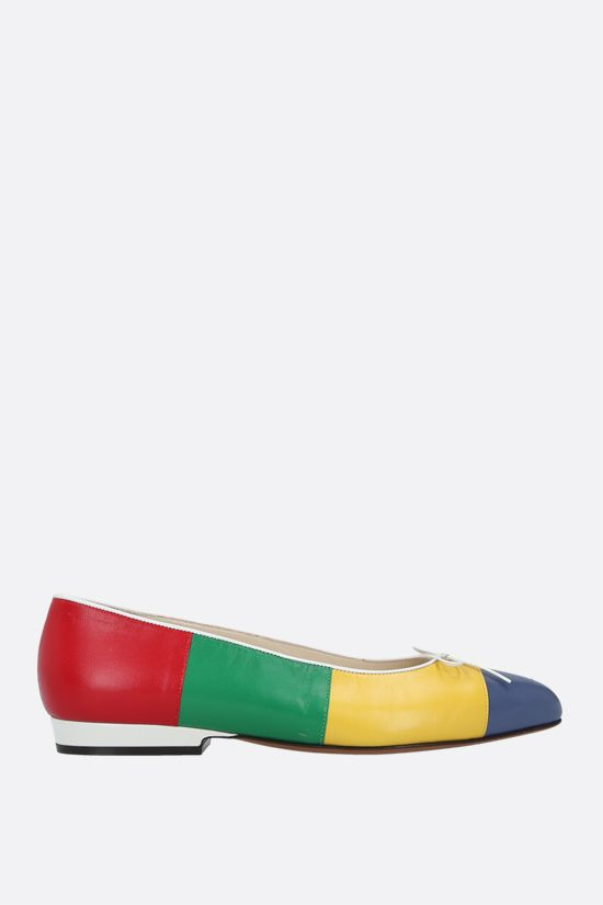 FERRAGAMO'S CREATIONS: Curiosa smooth leather ballerinas Color Multicolor_1