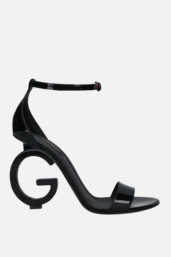 DOLCE & GABBANA: Keira patent leather sandals Color Black_2