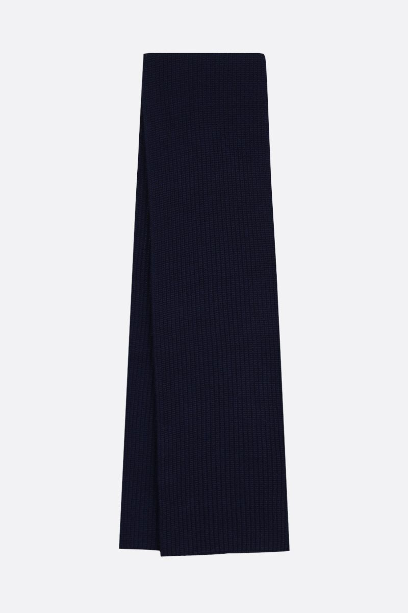 DOLCE & GABBANA: cashmere knit scarf Color Blue_2